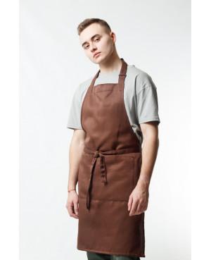 Фартук смесовый классический коричневый для бармена в Санкт-Петербурге