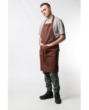 Фартук смесовый классический коричневый для официанта в Санкт-Петербурге
