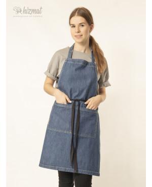 Фартук джинс классик голубой для повара