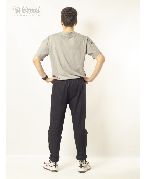 Брюки повара Eco pants чёрные 56-58