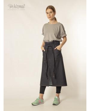Jeans strap dark blue long