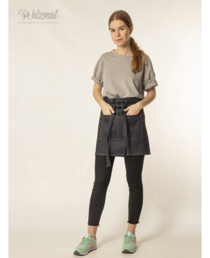 Jeans strap short dark blue