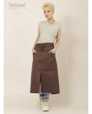 Base strap brown long