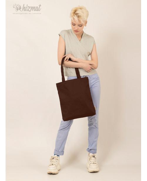 Эко шоппер M коричневый