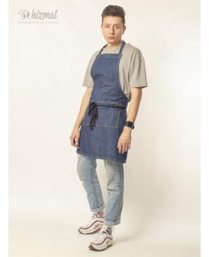 Фартук джинс классик синий мужской