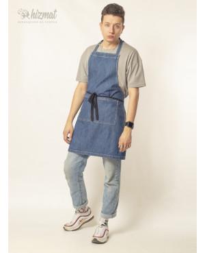 Фартук джинс классик голубой мужской
