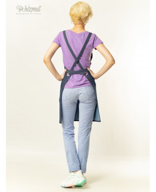 Eco unique jeans textile belt jeans with buttons